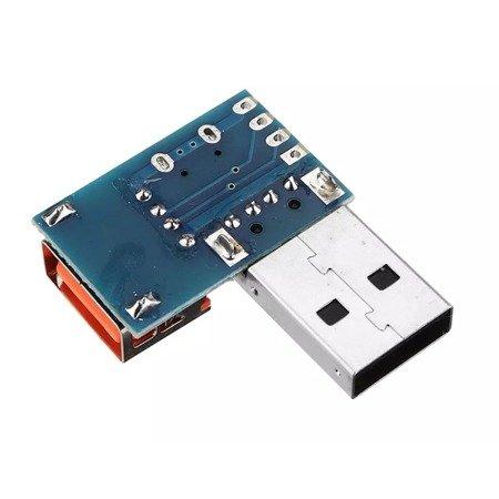 Adapter - Wtyk USB na gniazdo USB A i microUSB - rozdzielacz USB