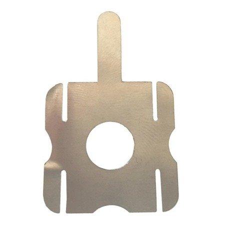 Blaszka do zgrzewania 4 ogniw - kształt 'kwadrat' - do lutowania i zgrzewania ogniw 18650
