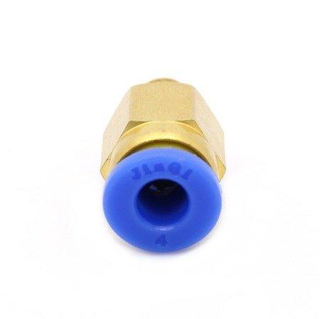 Bowden złącze - końcówka PC4-M6 - bowden 4mm - gwint M6 - - Drukarka 3D