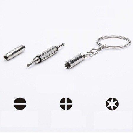 Brelok 3w1 śrubokręt wkrętak - mini narzędzie