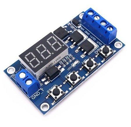 Cyfrowy wyzwalacz czasowy 6-20V 10A z Wyzwalaczem elektronicznym - timer