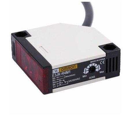 Czujnik fotoelektryczny odbiciowy E3JK-R4M1 - OMRON - do 4m - optyczny