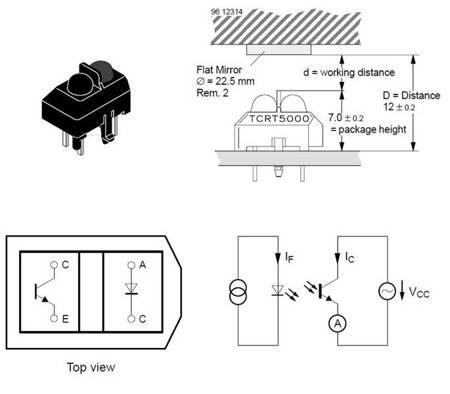 Czujnik odbiciowy TCRT5000 - do wykrywania przeszkód