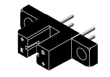 Czujnik optyczny TCST2103 - transoptor szczelinowy