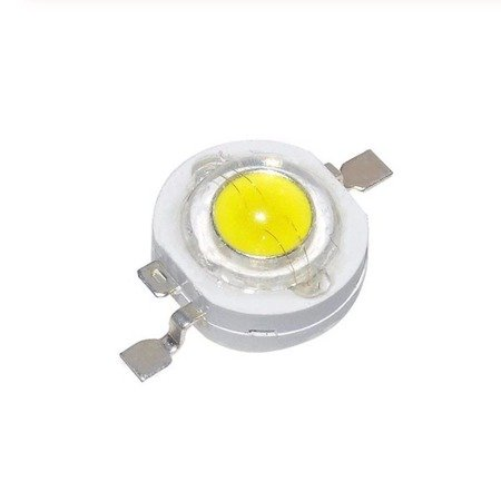Dioda Power LED - 1W - 100-110lm - światło białe zimne - 6300-7000K - SMD
