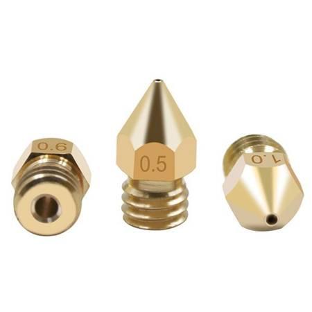 Dysza 0,2mm M6 - Filament 1,75mm - H13mm - Stożkowa - RepRap E3D V5 V6