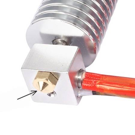 Dysza 0,5mm M6 - Filament 1,75mm - H13mm - Stożkowa - RepRap E3D V5 V6