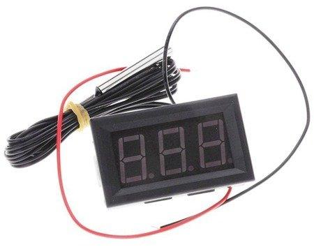 Elektroniczny Termometr - 12V -50°C do 110°C - wodoodporny czujnik