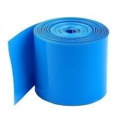 Folia termokurczliwa - rękaw PVC szer. 50mm - niebieska - na 2 akumulatory 18650 - 1mb