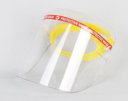 HURT 10 szt - Przyłbica ochronna nagłowna - otwierana - pełna pleksi