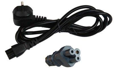 Kabel zasilający Koniczynka 1,5m 230V - zasilanie do ładowarek, laptopa itp.