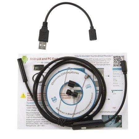 Kamera inspekcyjna USB 10M - wodoodporna kamera endoskopowa