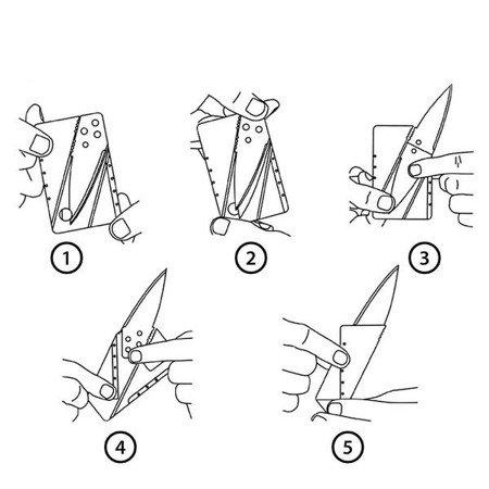 Karta przeżycia - składany nóż - SURVIVAL CARD
