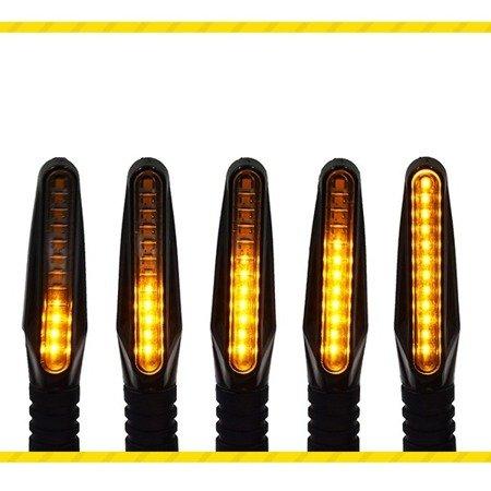Kierunkowskazy pływające LED do Motocykla, Quada itp. - 12V - dynamiczne - żółte -2 szt