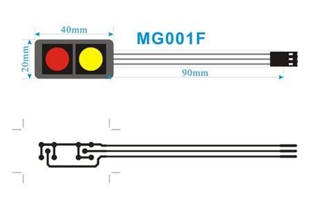 Klawiatura membranowa DC12V - 2 klawisze 1x2 - samoprzylepna do Arduino