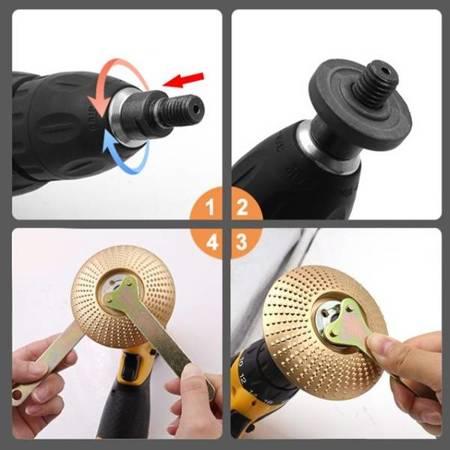 Klucz nakrętka podkładka trzpień M10 - zestaw do mocowania tarczy szlifierki kątowej