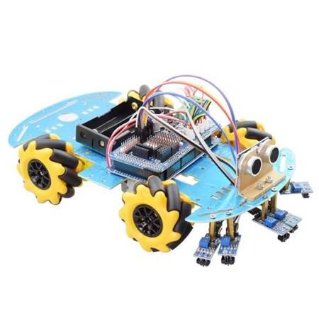Koło Mecanum 60mm Lewe + Prawe - 2 pary- Koła do budowy robotów i pojazdów DIY