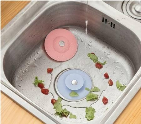 Korek z sitkiem - Zatyczka silikonowa do zlewu wanny umywalki