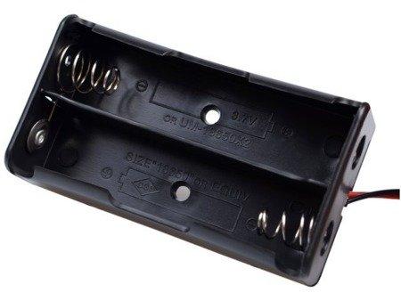 Koszyk na akumulator 2x 18650 3,7V Li-Ion - koszyczek na baterie (ogniwo) z przewodami