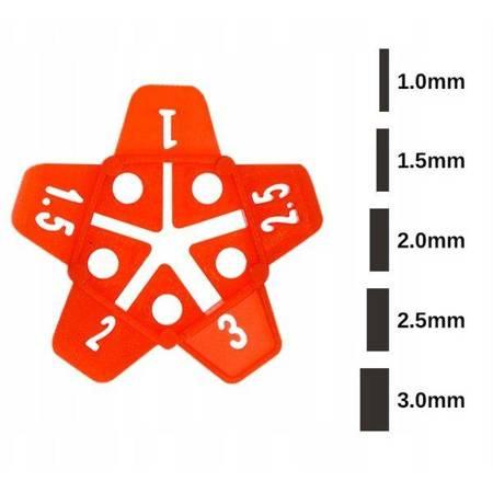 Krzyżyk dystansowy do fugi 1-3mm - 50szt - Uniwersalny dystans do system poziomowania płytek