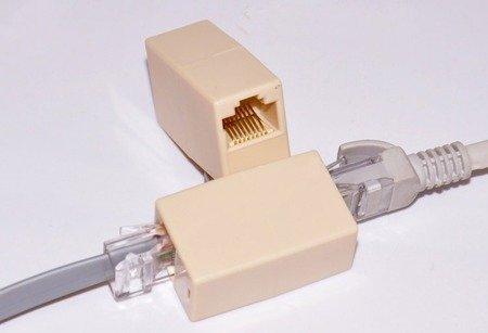 Łącznik kabli sieciowych - łącznik wtyku RJ45 - adapter - pozłacane wtyki