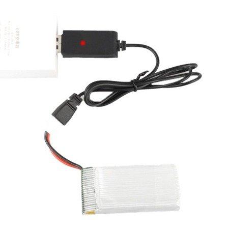 Ładowarka USB do akumulatorów 1S - 3,7V - wtyk Molex 51005 - przewód 55cm