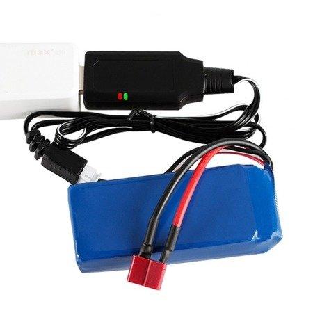 Ładowarka USB do akumulatorów 2S - 7,4V - wtyk JST XH 3pin - przewód 55 cm