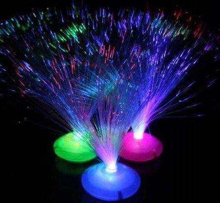 Lampka Światłowodowa UFO - LED - z przełacznikiem - bezprzewodowa - 30cm