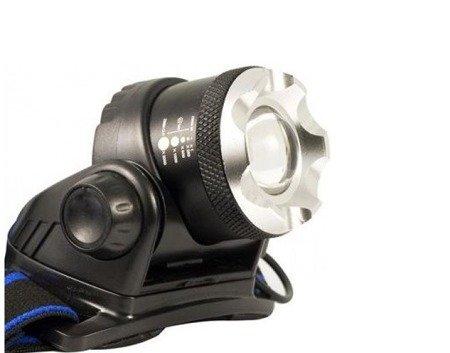 Latarka czołowa CREE T6 LED - 2 akumulatory 18650 - duża moc