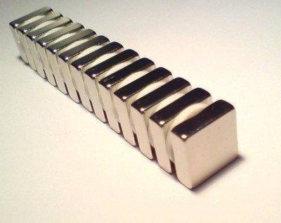 Magnes 10x10x4mm N38H - do blokady skrzydeł - neodymowy