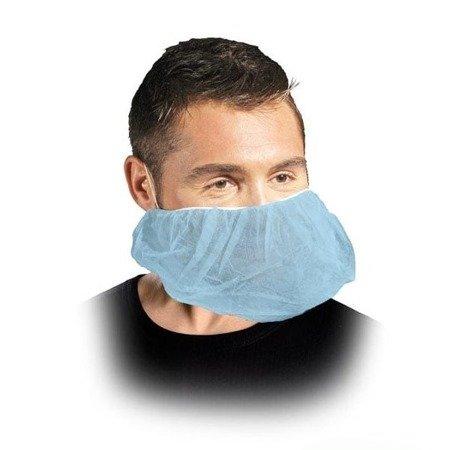Maseczka jednorazowa z włókniny niebieska - ochrona twarzy i brody