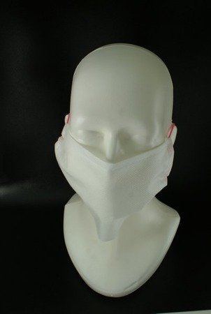 Maseczka ochronna z włókniny biała 2-warstwowa - maska na twarz