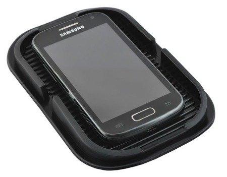 Mata antypoślizgowa do samochodu 15,5x10cm - samoprzylepna - na telefon, klucze, itd.