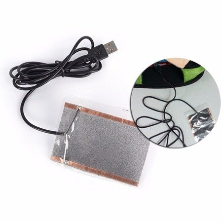 Mata grzewcza na USB 11x16cm 5W - podkładka grzewcza - podgrzewacz