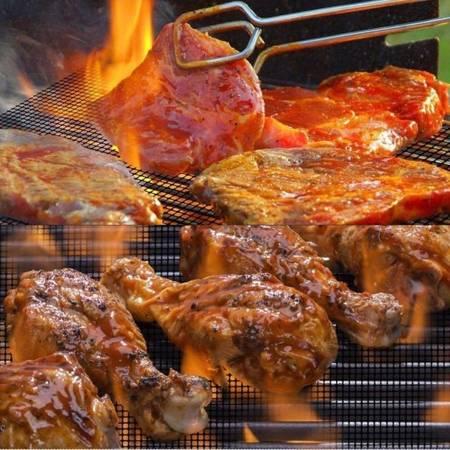 Mata teflonowa siatka na grill 30x40cm - Wkładka PTFE do pieczenia