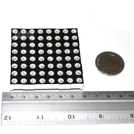Matryca punktowa LED 8x8 czerwony - 60x60mm - LED 5mm - wspólna Anoda