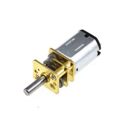 Mini silnik szczotkowy GA12-N20 - 100RPM - wał 8mm- 12V z przekładnią