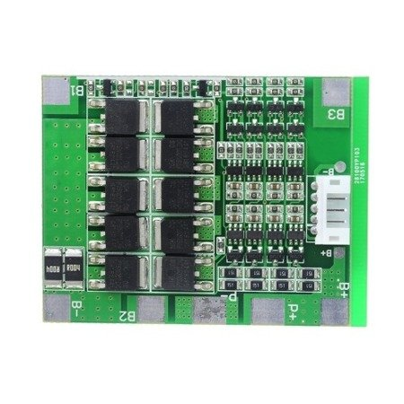 Moduł BMS PCM PCB ładowania i ochrony ogniw Li-Ion - 4S - 14.8V - 30A - do ogniw 18650
