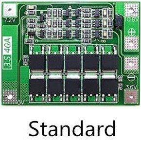 Moduł BMS - STANDARD -  3S 12,6V - 40A - do ładowania i ochrony ogniw 18650