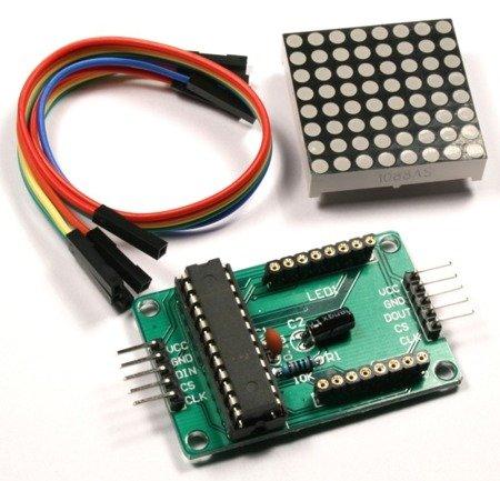 Moduł - Matryca LED 8x8 + sterownik MAX7219 - LED czerwony