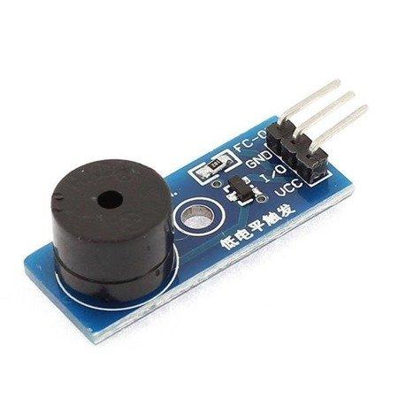 Moduł buzzera aktywnego na płytce PCB - 3.3V~5V - prąd niski - do arduino, projektów DIY i robotyki