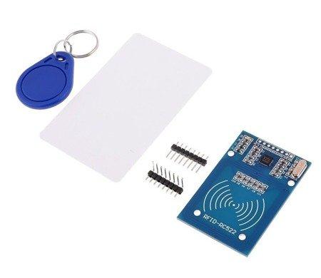 Moduł czytnika RFID RC522 13,56MHz + karta + brelok - Arduino