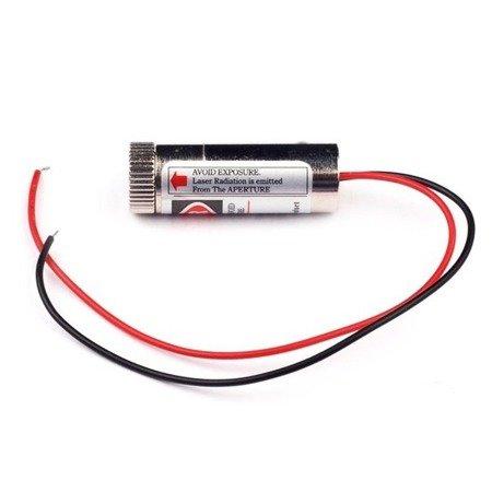 Moduł lasera z soczewką 650nm 5mW - czerwona wiązka liniowa