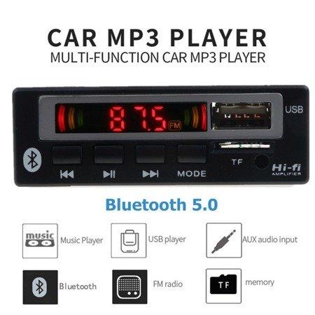 Moduł odtwarzacza MP3 - 5V - USB - SD - FM - Bluetooth 5.0 + pilot