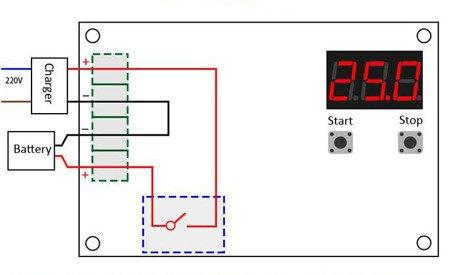 Moduł sterowania XH-M603 - regulator ładowania akumulatorów 12-24V