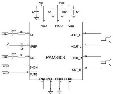 Moduł wzmacniacz audio 2x3W 5V PAM8403 - Arduino
