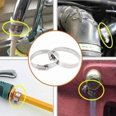 Opaska zaciskowa 80x100mm - 5 szt - metalowa obejma ślimakowa do rur i węży