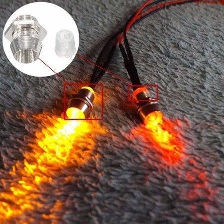 Oprawki diod LED 3mm - gniazdo metalowe wkręcane - gwint M5