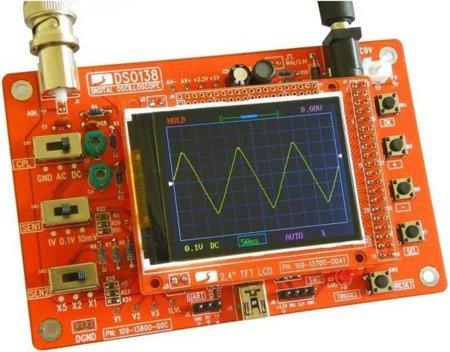 Oscyloskop cyfrowy LCD DSO138 - 1Msps - zlutowany gotowy do użycia