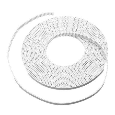 Pasek zębaty wzmacniany GT2 - MXL - High Quality White - 100cm - szerokość 6mm - 3D CNC